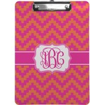 Pink & Orange Chevron Clipboard (Personalized)