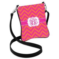 Pink & Orange Chevron Cross Body Bag - 2 Sizes (Personalized)