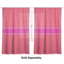 "Pink & Orange Chevron Curtains - 40""x54"" Panels - Unlined (2 Panels Per Set) (Personalized)"
