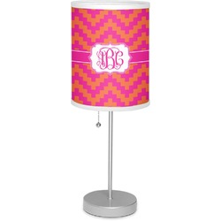 """Pink & Orange Chevron 7"""" Drum Lamp with Shade (Personalized)"""