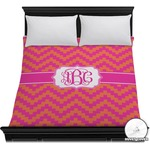 Pink & Orange Chevron Duvet Cover (Personalized)