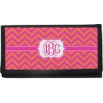Pink & Orange Chevron Canvas Checkbook Cover (Personalized)