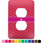 Pink & Orange Chevron Electric Outlet Plate (Personalized)