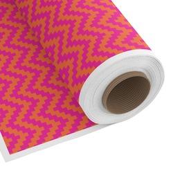 Pink & Orange Chevron Custom Fabric - Spun Polyester Poplin (Personalized)