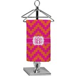 Pink & Orange Chevron Finger Tip Towel - Full Print (Personalized)