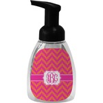 Pink & Orange Chevron Foam Soap Dispenser (Personalized)