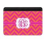 Pink & Orange Chevron Genuine Leather Front Pocket Wallet (Personalized)