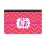 Pink & Orange Chevron Genuine Leather ID & Card Wallet - Slim Style (Personalized)