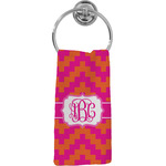 Pink & Orange Chevron Hand Towel - Full Print (Personalized)