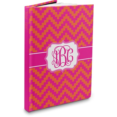 Pink & Orange Chevron Hardbound Journal (Personalized)