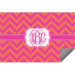 Pink & Orange Chevron Indoor / Outdoor Rug (Personalized)
