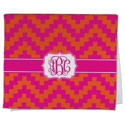 Pink & Orange Chevron Kitchen Towel - Full Print (Personalized)