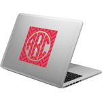 Pink & Orange Chevron Laptop Decal (Personalized)