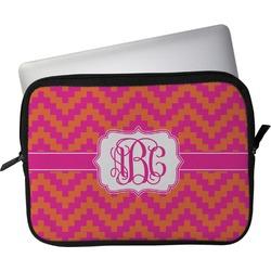 "Pink & Orange Chevron Laptop Sleeve / Case - 13"" (Personalized)"