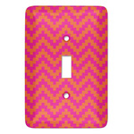 Pink & Orange Chevron Light Switch Covers (Personalized)