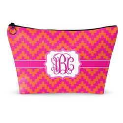 Pink & Orange Chevron Makeup Bags (Personalized)