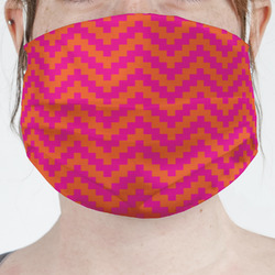 Pink & Orange Chevron Face Mask Cover (Personalized)