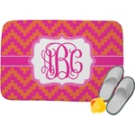 Pink & Orange Chevron Memory Foam Bath Mat (Personalized)