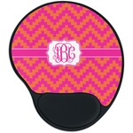 Pink & Orange Chevron Mouse Pad with Wrist Support