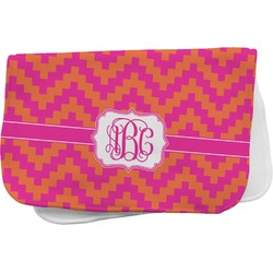 Pink & Orange Chevron Burp Cloth (Personalized)