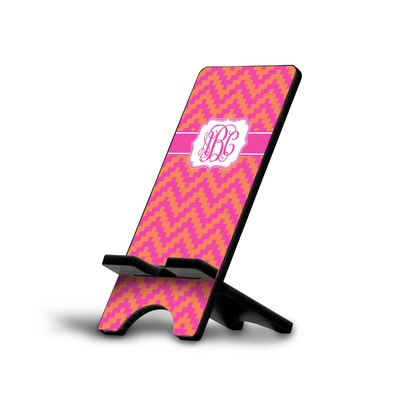 Pink & Orange Chevron Cell Phone Stands (Personalized)