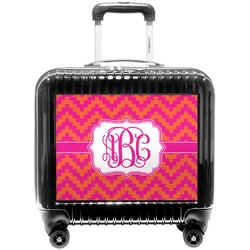 Pink & Orange Chevron Pilot / Flight Suitcase (Personalized)