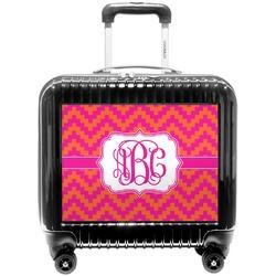 Pink & Orange Chevron Pilot / Flight Suitcase (Personalized)