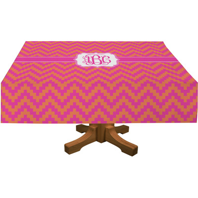 "Pink & Orange Chevron Tablecloth - 58""x102"" (Personalized)"