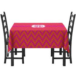 Pink & Orange Chevron Tablecloth (Personalized)