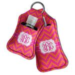 Pink & Orange Chevron Hand Sanitizer & Keychain Holder (Personalized)