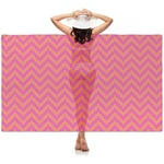 Pink & Orange Chevron Sheer Sarong (Personalized)