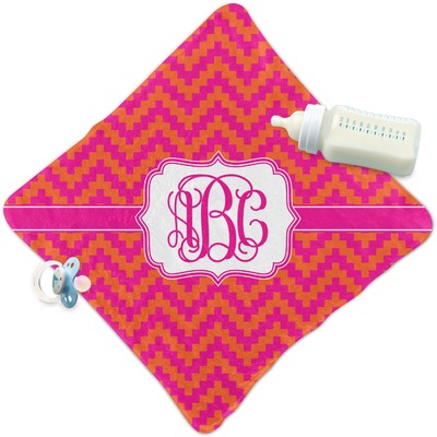 Pink & Orange Chevron Security Blanket (Personalized)