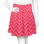 Pink & Orange Chevron Skater Skirt (Personalized)
