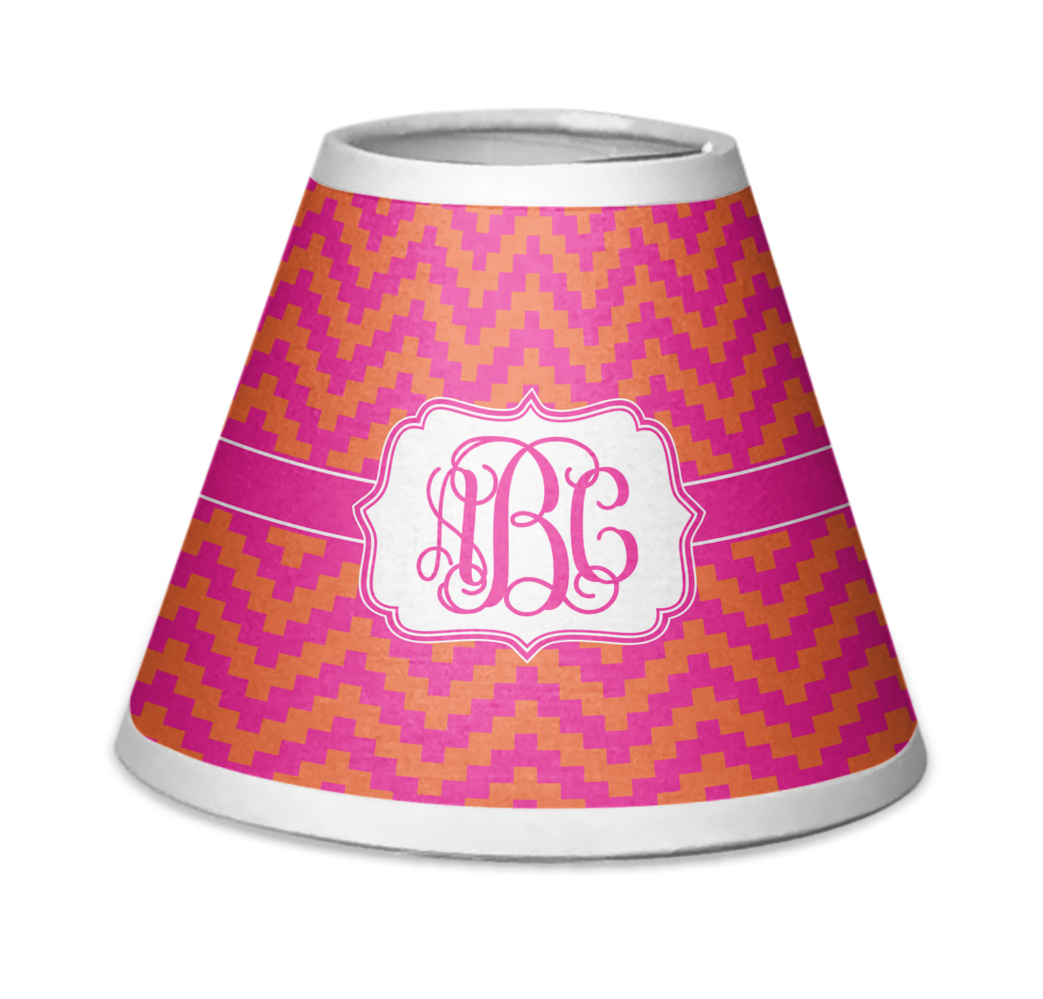 Pink Orange Chevron Chandelier Lamp Shade Personalized