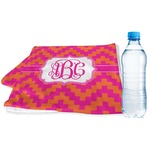 Pink & Orange Chevron Sports & Fitness Towel (Personalized)