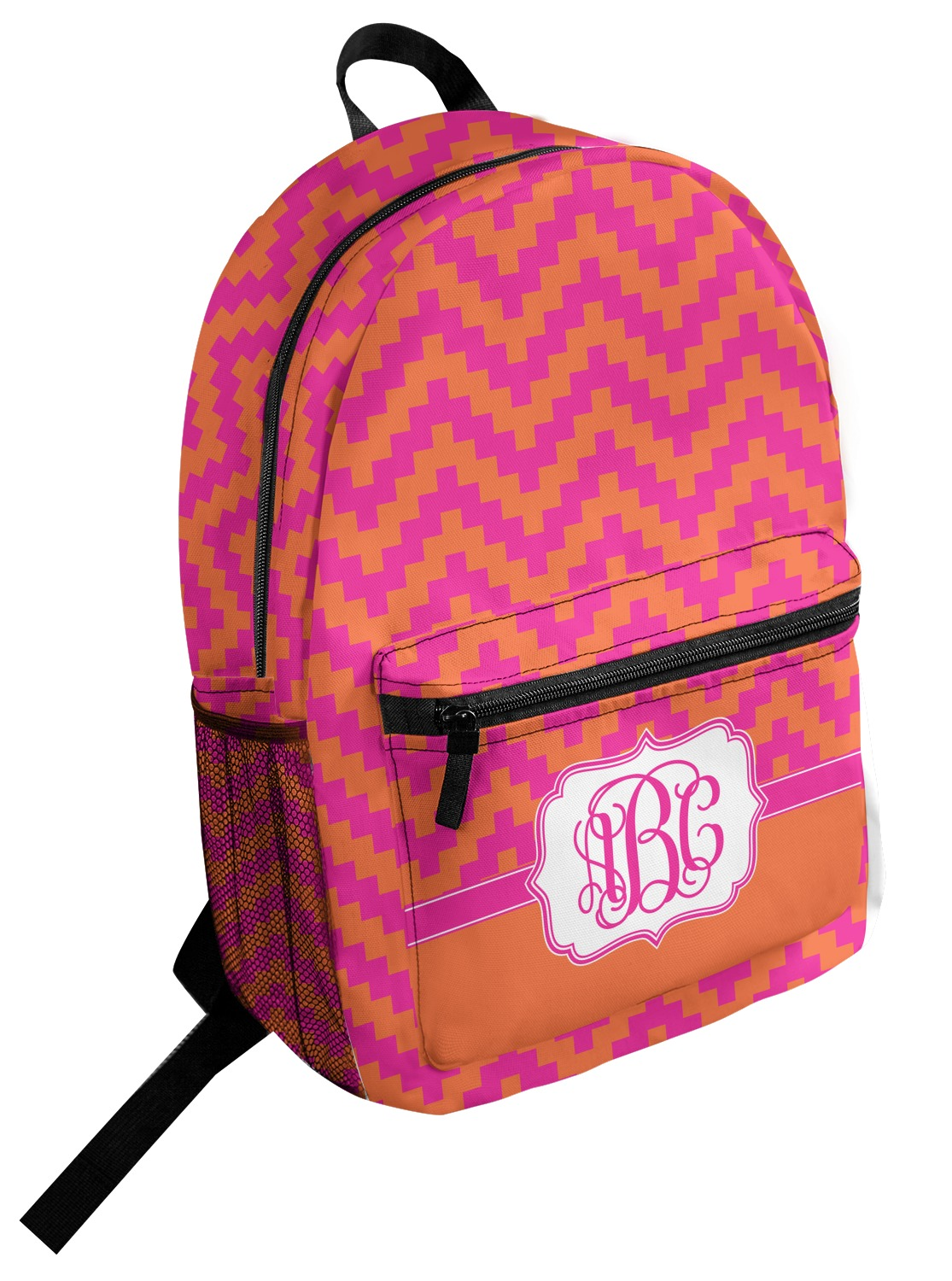 Pink orange chevron student backpack personalized youcustomizeit jpg  1115x1500 Pink orange backpack 5d0bb0a248611