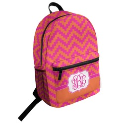 Pink & Orange Chevron Student Backpack (Personalized)