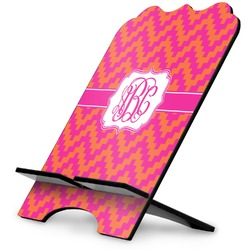 Pink & Orange Chevron Stylized Tablet Stand (Personalized)
