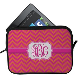 Pink & Orange Chevron Tablet Case / Sleeve (Personalized)