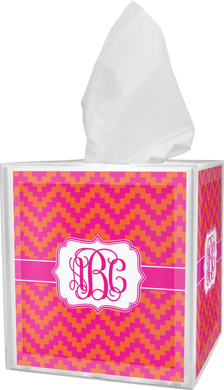 Charmant Pink U0026 Orange Chevron Tissue Box Cover (Personalized). Pink U0026 Orange  Chevron Bathroom Accessories ...