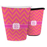 Pink & Orange Chevron Waste Basket (Personalized)