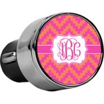 Pink & Orange Chevron USB Car Charger (Personalized)