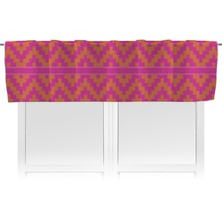 Pink & Orange Chevron Valance (Personalized)
