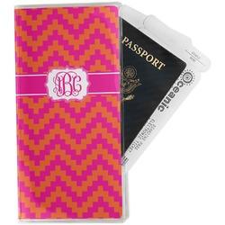 Pink & Orange Chevron Travel Document Holder