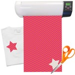 Pink & Orange Chevron Heat Transfer Vinyl Sheet (12