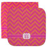 Pink & Orange Chevron Facecloth / Wash Cloth (Personalized)