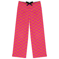 Pink & Orange Chevron Womens Pajama Pants (Personalized)