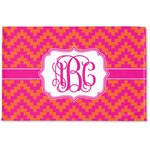 Pink & Orange Chevron Woven Mat (Personalized)