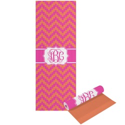 Pink & Orange Chevron Yoga Mat - Printable Front and Back (Personalized)