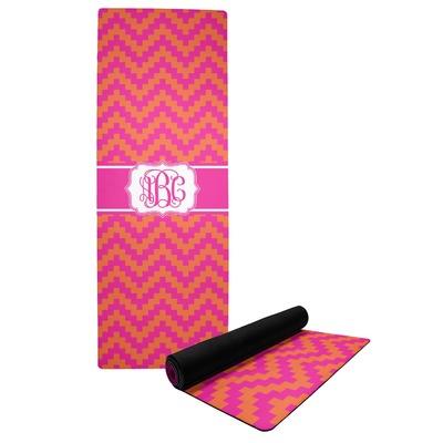 Pink & Orange Chevron Yoga Mat (Personalized)